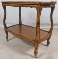 Continental Style Mahogany Two Tier Tea Trolley - SOLD